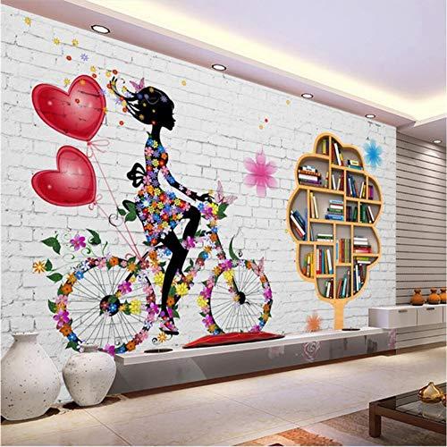 Shuangklei Aangepaste Wallpaper Murals Mode Wit Baksteen Wandplanken Lounge Woonkamer Tv Achtergrond Papier van de Muur 120 x 100 cm.