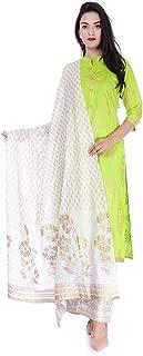 raika Fashions Women's Rayon Kurti, Palazzo and Dupatta Set
