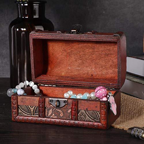 Estilo europeo con caja de almacenamiento de joyería vintage con cerradura codificada, usada para almacenar joyas o cosas(Grass flower pattern medium)