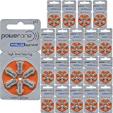 Power One Size 13 Hearing Aid Batteries (120) (p13-120)