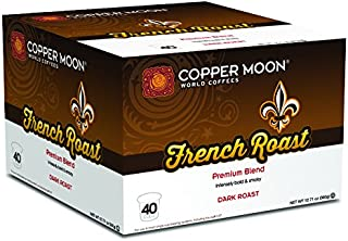 Copper Moon Coffee Single Serve Pods for Keurig 2.0 K-Cup Brewers, French Roast, Dark Roast Coffee Intensely Bold and Smokey, 40 Count
