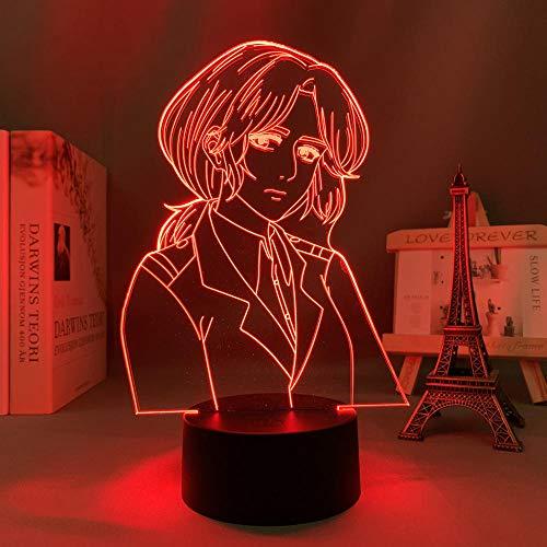 Lámpara de dedo Anime 3D de titanio Pieck para dormitorio, decoración de cumpleaños, manga, ataque a titanio Pieck dedos, lámpara de noche HYKK