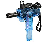 MIDODOR Uzi-SMG Suitable for Nerf N-Strike Elite Series Foam supplementary Ammunition.Toy Gun for Boys Girls Family Party 24 Bullets (12 Rounds + 12 Suction Cups)-Blue