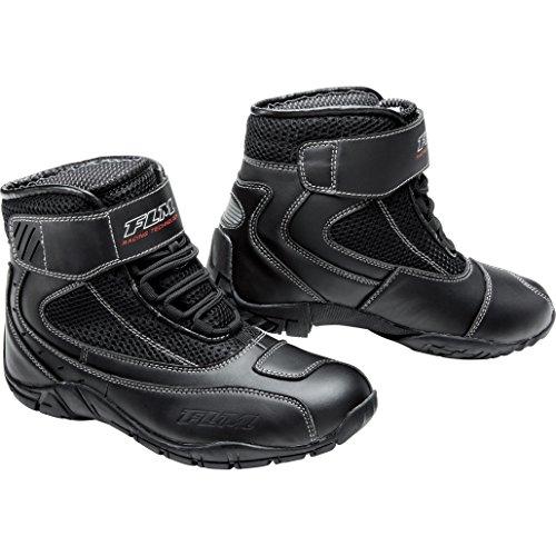 FLM Motorradschuhe, Motorradstiefel kurz Sommer Sport Textil Schuh 3.0 schwarz 45, Herren, Sportler