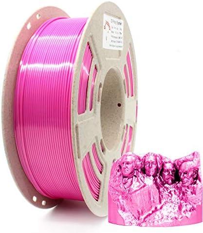 Reprapper Pink Silk PLA Filament for 3D Printer 3D Pen 1 75 mm 0 03 mm 2 2 lbs 1 kg product image