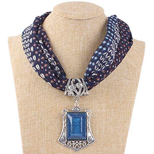 LoveLeiter Damen Halskette Modeschmuck Anhänger Schals & Tücher Jahrgang böhmischen Stil einfarbig mit Schnalle Kette Quasten Schal Halskette