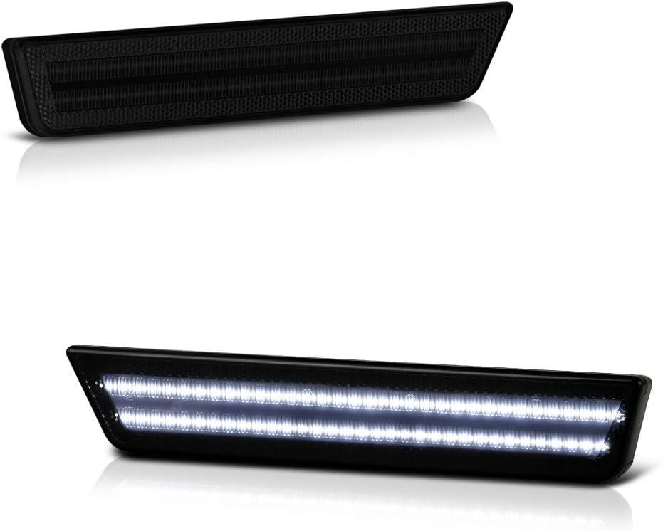 VIPMOTOZ Full White LED Smoke Lens Overseas parallel import regular item Light Bumper Ranking TOP16 Side Marker Rear