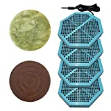 Cell Spa 4 Pack CS-900 Twice Powerful 6.5' x 5.5' Ion Detox Foot Bath Arrays With 2' Round Jade & 2' Round Ceramic Stone Powerful Boost Semi-Conductors of Negative Ions For Detox Machine