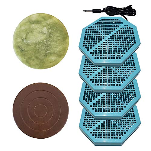 """Cell Spa 4 Pack CS-900 Twice Powerful 6.5"""" x 5.5"""" Ion Detox Foot Bath Arrays With 2"""" Round Jade & 2"""" Round Ceramic Stone Powerful Boost Semi-Conductors of Negative Ions For Detox Machine"""