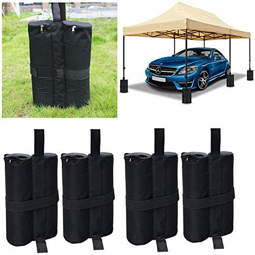 APROTII 4Pcs Weight Bags for Heavy Duty Gazebo Tent Leg Sand Bag,Weighted Base,Camping Fixing Oxford Sun Shelter Awning Accessories