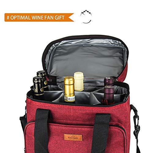Bolsa de vino con aislamiento de Freshore Bolsa de 6 botellas ...