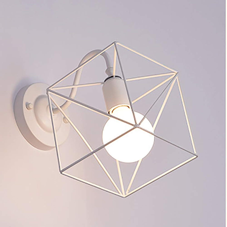 Oevina Mode Retro Metallwandleuchte, LED Kreative Persnlichkeit Whrend Praktische Wandleuchte für Arbeits Bar Café Wandleuchte E27 (Farbe   Weißb, gre   28x24cm)