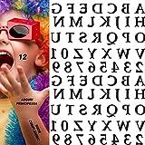 mgkolbe® 1 pcs tatuaggi temporanei adulti uomo donna tatuaggio bambini tatoo finti scritte adesivi lettere numeri dell alfabeto stickers adesivi unghie gadget regalini fine festa compleanno bambine