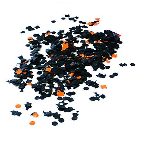 Generique - Confettis Halloween Noir et Orange