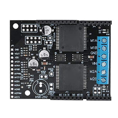 Lazmin Dual-Channel DC Motor Driver Board Module VNH5019 Drive Motor Board 30A High Current Self-Voltage Protection