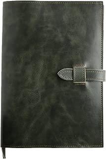日本製 (EndMark) 本革 A5 手帳カバー ノートカバー 軽量設計 手に馴染む優しい質感と革の香りが特徴な大人の手帳カバー (モスグリーンA5)