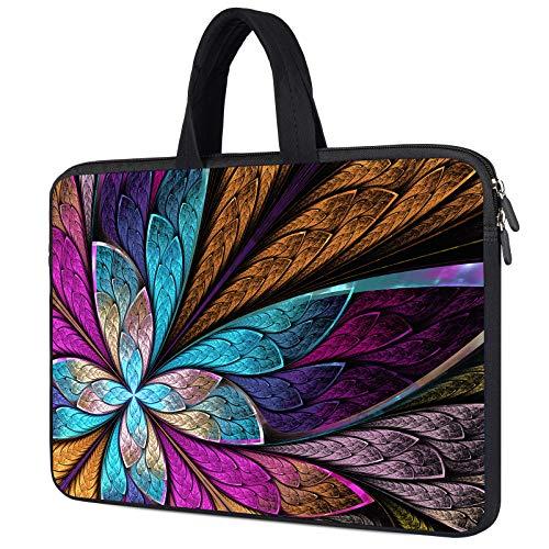 14 inch Neoprene Chromebook Case for HP Chromebook x360 14, Lenovo Chromebook S330 S340, Chromebook Flip C434 2in1 Laptop, Acer Chromeook 314 514, 14 inch Chromebook Tablet Bag, Colorful Leaf
