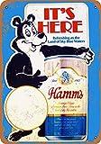 Noone Branded Hamm's Beer Bär-Blechschild Metall Retro