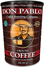 2LB Don Pablo Signature Blend - Drip Ground Coffee - Medium-Dark Roast- Collectible Tin Can - Low Acidity -2 Pound (2 lb) can