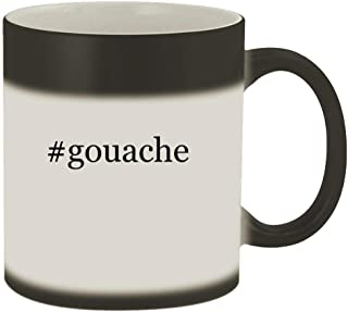 #gouache - 11oz Hashtag Magic Color Changing Mug, Matte Black