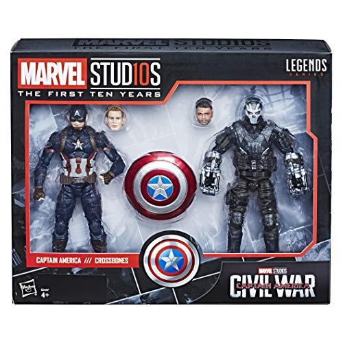Marvel 10 Aniversario - Pack 2 Figuras de acción Capitán América & Crossbones