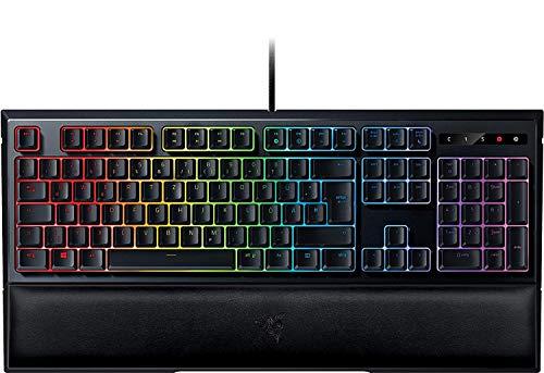 Razer Ornata Chroma - Gaming Tastatur mit mecha-membranen Hybrid-Schaltern (Ergonomische Handballenablage, voll programmierbar, RGB Chroma) QWERTZ | DE-Layout, Schwarz