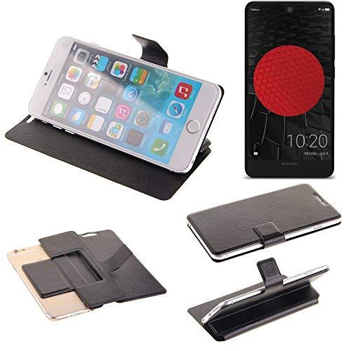 K-S-Trade® Schutz Hülle Für Sharp Aquos C10 Schutzhülle Flip Cover Handy Wallet Case Slim Handyhülle Bookstyle Schwarz