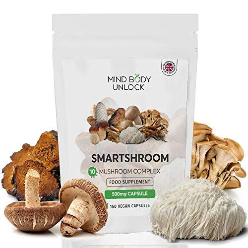 10 Mushroom Complex (Mushroom Extract, not Mushroom Powder) 10X Higher Concentration & Beta-glucans