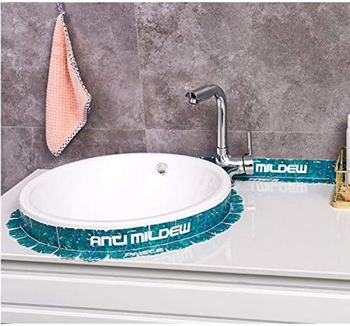 Tape Sealant Strip Bad Keuken Caulk Tape Sealant Strip Zelfklevende Waterdichte Mildewproof Decoratieve Rand Toilet Waterdichte Sticker 2 Stuks Keuken Badkamer Toilet Muur Maat E
