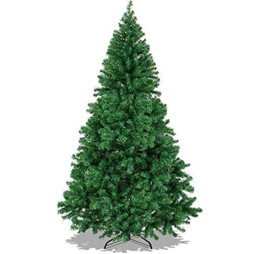 HOT BUY – The Finest 6′ Feet Super Premium Artificial Christmas Pine Tree with Solid Metal Legs ,1000 Tips, Six Foot Tall.