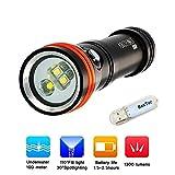 Archon D15VP (W21VP) Tauchlampe Licht CREE LED 1300 Lumen Taschenlampe Lampe Unterwasserlicht 100...
