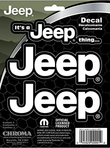 CHROMA 009991 Jeep It's a Jeep Thing Stick Onz Decal, White