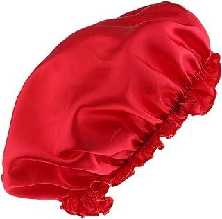 Lovoski Soft Silk Night Sleep Cap Long Hair Care Bonnet Hat Head Cover Band Elastic