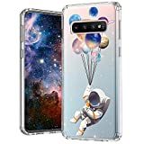 MOSNOVO Galaxy S10 Case, Astronaut Planet Pattern Clear Design Printed Transparent Plastic Back Hard Case with TPU Bumper Protective Case Cover for Samsung Galaxy S10