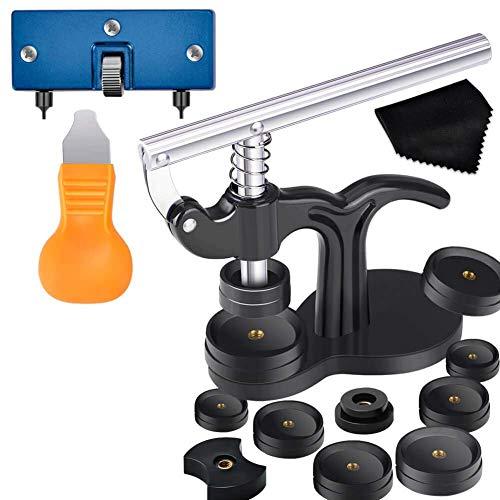 XER 17pcs Watch Press Herramienta de Prensa con Kit de Herramientas de reemplazo de batería de Relojes y Muebles de Ajuste para Mirar atrás el removedor de reparación y batte