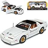 Pontiac Firebird TTA Coupe Weiss Pace Car Indianapolis 3. Generation 1982-1992 1/18 Greenlight Modell Auto