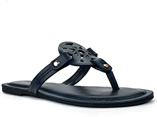 LAMHER Women's Cutout Thong Slide Sandal