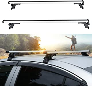 ECCPP Adjustable 50†Roof Rack Cross Bar Roof Rack Cross Bars Luggage Cargo Carrier Rails Fit for 2012-2018 Toyota Camry,1990-2018 Toyota Corolla,Aluminum Roof Mounted Roof Rack Cross Bar Set