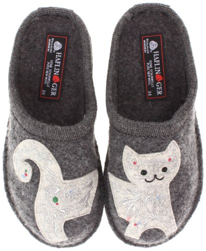 Haflinger Women's AR LIZZY GREY Slipper, 39 EU/8 M US