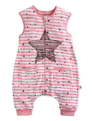 *Vaenait Baby Maedchen Babyschlafsack Baumwolle Cotton Sleepsack Bling Pink Sleep L*