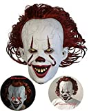 Norubvs Pennywise Mask - 2019 Stephen King's It Masque - LED Masque de Clown...