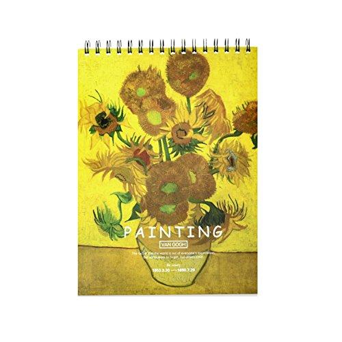 SINDBIN 36-Sheet Sketchpad Artist Pro ,9 x 12 in Multi-Media Spiral Notebook, Drawing Paper, Drawing Pad (Sunflower)