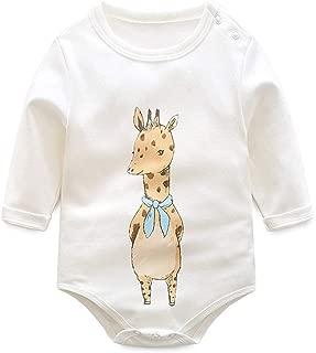 Krastal Baby Clothes Cotton Long-Sleeved Autumn Warm Cartoon Print Baby Bodysuit