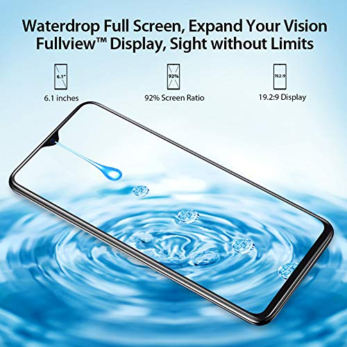 Blackview A60 Smartphone ohne Vertrag Günstig 15,49 cm (6,1 Zoll) HD+ Display 4080mAh Akku, 13MP+5MP Dual Kamera, 16GB ROM, 128 GB erweiterbar Dual SIM Android Einsteiger Handy - Schwarz - 2
