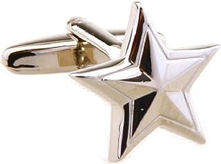 أزرار أكمام MRCUFF Star Military Badge General في صندوق هدايا وقطعة قماش تلميع