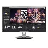 Monitor Philips 328P6VUBREB/00-32', 4K UHD, 60Hz, IPS, FlickerFree (3840x2160, 600 CD/m, HDMI 2x2.0, Displayport 1x1.2)