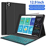 New iPad Pro 12.9 2020 2018 Keyboard Case - 7 Colors Backlit...