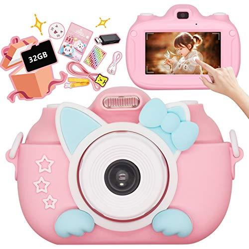 「令和最新型」子供用デジタルカメラ キッズカメラ トイカメラ タッチスクリン式 操作簡単 3インチIPS画面 3000万画素 自撮り 多機能 日本語説明書付き 誕生日 クリスマス 子供プレゼントに最適 ピンク BEEWAYS