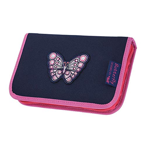 McNeill Pencil Case with Pens Butterfly