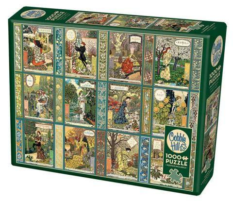 Cobble Hill 1000 Piece Puzzle - Jardiniere: A Gardener's Calendar - Sample Poster Included